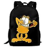 huatongxin Mochila unisex de alta capacidad para adultos, encantadora mochila Garfield, bolsa de viaje, mochilas escolares, bolsa para ordenador portátil