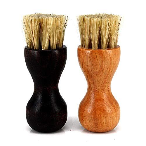 EvaGO 2 Pcs Shoe Shine Brushes Kit Shoe Dauber Polish Applicator for Women Men Boots