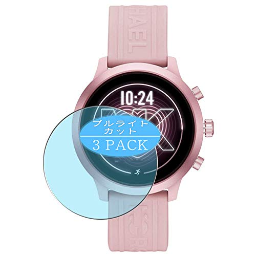 [3 Pack] Synvy Anti Blue Light Screen Protector Compatible with Michael/Kors/Access/MKGO Smartwatch MKT5070 Screen Film Protective Protectors [Not Tempered Glass]