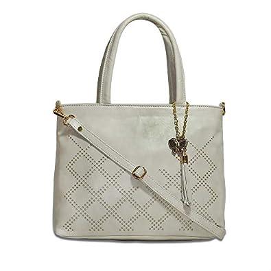 Butterflies Women's Pu Handbag For Ladies and Girls (Cream) (BNS 0731CRM)