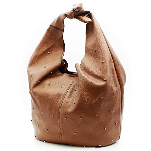 MISEMIYA - Borsa a Mano Donna Pochette e Clutch Borse a mano e a spalla mano borsa (42 * 48 * 22 cm) SR-R-8826 - Rosa
