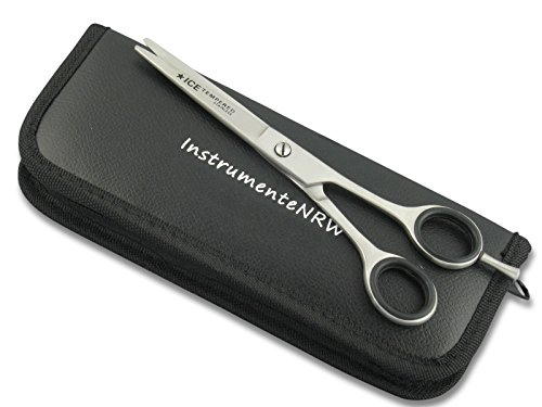 Premium Friseurschere Haarschere mit Mikroverzahnung InstrumenteNRW oder Solingen mit Aufbewahrungs-Etui (Nr.6 = 6 Zoll 2 x Mikroverzahnt)