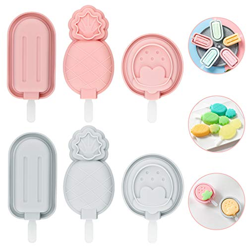 ✅【Moldes Helados de Silicona de Grado Alimenticio】-- Los BUZIFU moldes para polos están hechos de silicona 100% de grado alimenticio, sin BPA, mantienen su helado seguro para comer. Estos recipientes para helados soportan temperaturas de -30 ℃ a 230 ...