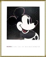 ポスター アンディ ウォーホル The Art Of Mickey Mouse 額装品 アルミ製ハイグレードフレーム(ゴールド)
