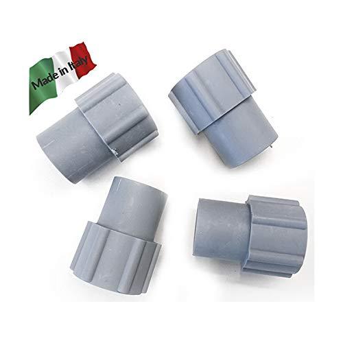 n° 4 Manicotto per rotolo tubo scarico lavatrice lavastoviglie attacco filettato diametro 21 mm
