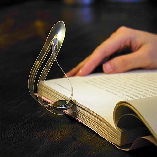KHDJ Lesezeichen Licht, Kreative Mini Portable Lesezeichen Lichter Ultraduenne LED Nachtlicht Biegen Falten Tragbare Buecher Auge Leselicht