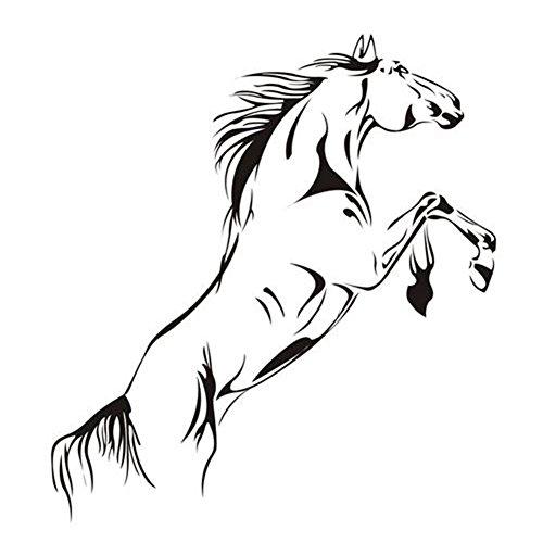 Nvfshreu stickers paard galopperen muursticker zelfklevende klever decoratief plakband notitieboek muur eenvoudige stijl keramische tegel DIY afneembaar venster foto's raamfolie grootte