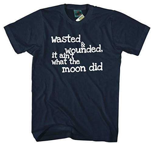 Tom Waits Tom Traubert's Blues Lyrics Inspired, Herren T-Shirt, XX Large, Navy blau