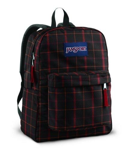 JanSport SuperBreak Backpack (Red Riff Bomber Plaid)