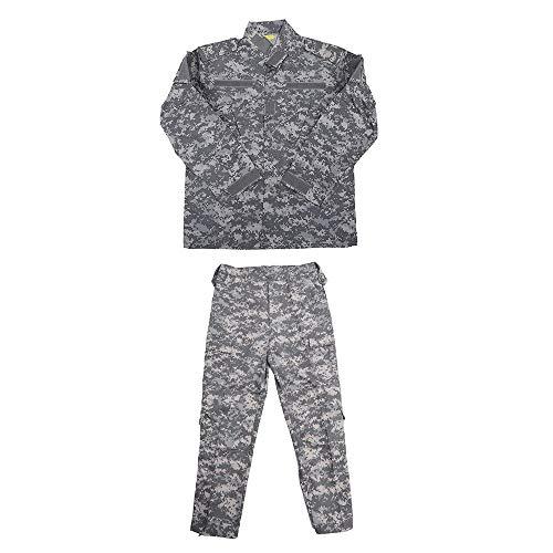 AILOVA ACU Tactical Suit, Tarnanzug Hunting Camouflage Uniform Set Unisex für Männer Damen - Jacke & Hosenanzug für Jagd Schießen Kriegsspiel Armee Militär Paintball Airsoft
