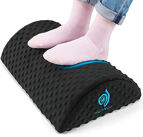 HUANUO Ergonomische Fußstütze für den Schreibtisch, Fußstützen mit 2 optionalen Bezügen, Geeignet für Reisen im Home Office