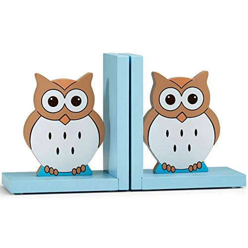 WEHOLY Book Ends Heavy Duty Bookends Owl Book Ends Cartoon Ornaments Home Decoration Children's Desktop Book Stalls Auspicious Furnishings Book Fans Lovers of The Best Gift