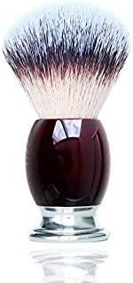 Shaving Brush with Synthetic Red Acrylic Handle Men's Shaving Brush, Wet Shaving Brush for Men Apply for Shaving Razor Kit by JDK