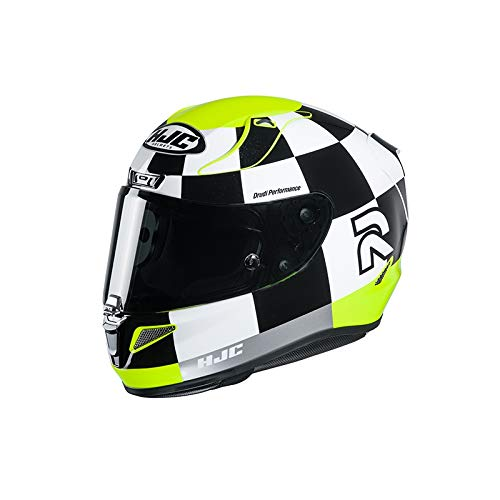 Motorradhelm HJC RPHA 11 MISANO MC4H, Schwarz/Weiss/Gelb, XL