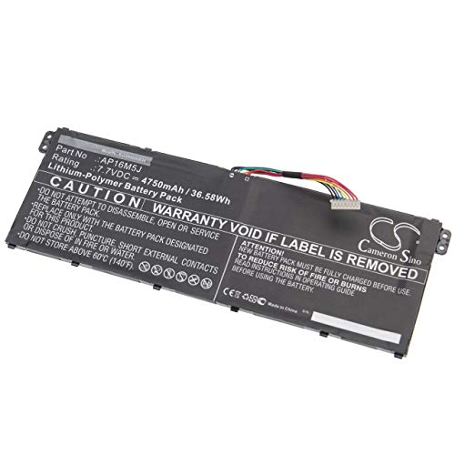 vhbw Akku kompatibel mit Acer Aspire 3 A315-34-C6KM, A315-34-C6MU, A315-34-F14U Notebook (4.750mAh, 7,7V, Li-Polymer)