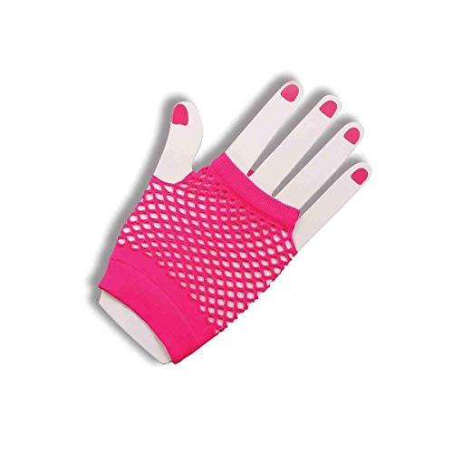 Short Fishnet Gloves, Pink