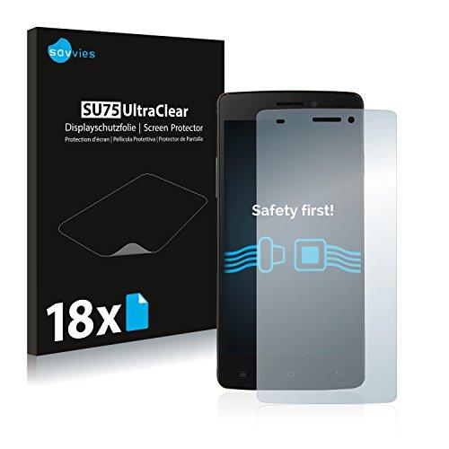 Savvies 18x Schutzfolie kompatibel mit Cubot X12 Bildschirmschutz-Folie Ultra-transparent
