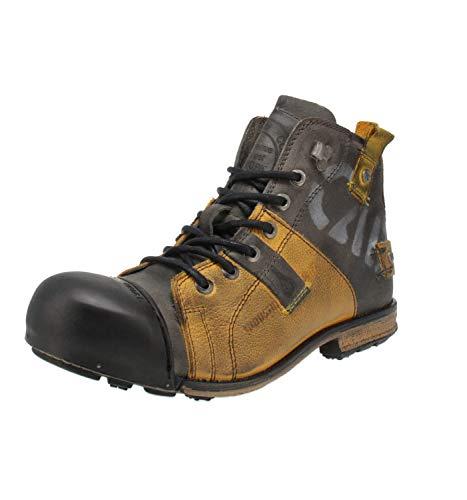 Yellow Cab Herren Industrial Biker Boots, Gelb (yellowblack 9001), 45 EU