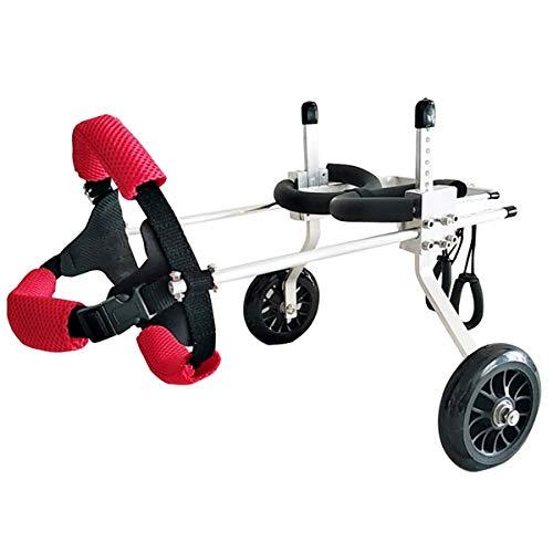 Patinete para mascotas Silla de ruedas para perros 2 ruedas Patas traseras Silla de ruedas ajustable para perros Ancianos Perro Gato Carro eléctrico Carro de rehabilitación de animales discapacitados