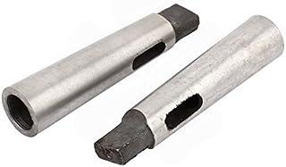Yosooo 3PCS MT1-MT2 MT-2-MT3 MT3-MT4 Morse Taper Adapter Reducing Drill Chuck Sleeve Flat Head Drill Sleeve Taper Shank Drill Sleeve for Lathe Milling Part