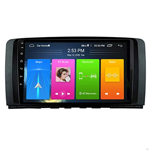 DMMASH Android 8 Car Touch Screen for Mercedes Benz R Class W251 R280 R300 R320 R350 R63 2006-2013, GPS Car Stereo Radio Multimedia Play Screen Bluetooth Mirror Link,4 cores,WIFI:1+16G