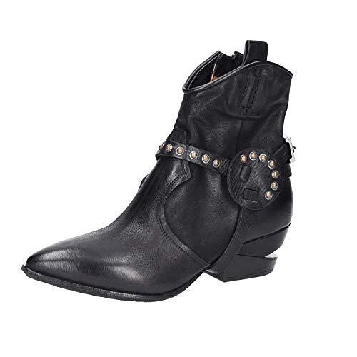 A.S.98 Damen Stiefeletten A.S. 98 Cowboy Boots Sunset Nero 16020102010001 schwarz 677948