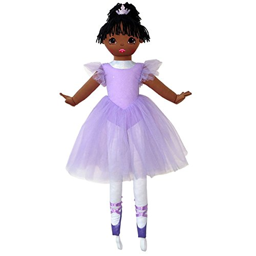 Anico Well Made Play Doll For Children La Bella Ballerina, African American, 36' Tall, Lavender