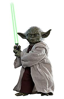 Hot Toys Yoda 1/6 Sixth Scale Star Wars Episode II  Attack of The Clones - Movie Masterpiece Series Collectible Action Figure