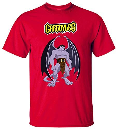 JONES DIY Cartoon, Gargoyles V1 Goliath Demona Film TV Series 1994 T Shirt,Red,XL