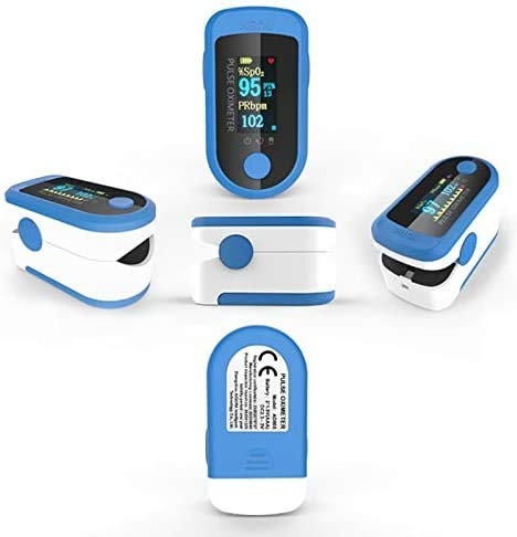 Pulsossimetro da Dito, Saturimetro da Dito Portatile Professionale, 4 direzioni Regolabili, Display OLED a 2 Colori,misurazione SPO2, per Uso Domestico, Fitness e Sport estrem