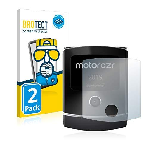 BROTECT Full-Cover Schutzfolie Matt kompatibel mit Motorola Razr 2019 (Vorderes Bildschirm) (2 Stück) - Full-Screen Bildschirmschutz-Folie, Curved