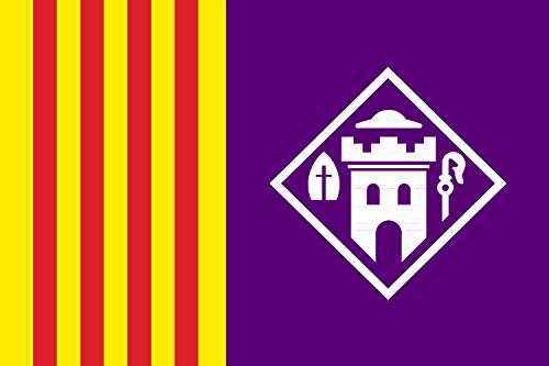 magFlags Bandera Large Castellbisbal | Logotipada, segons l ajuntament de Castellbisbal | Bandera Paisaje | 1.35m² | 90x150cm