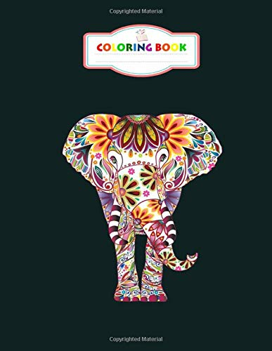 Coloring Book: colorful elephant tee elephant lover gift - for men woman Journal/Notebook Blank Lined Ruled 100 pages 8.5x11 inches