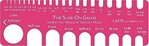 Lacis Slide On Knitting And Crochet Gauge 8-0 To 35