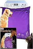 Joymaney - Bolsa de lavandería para mascotas para bloquear el pelo de las mascotas | Bolsa de lavado de tamaño Jumbo ideal para perro gato caballo | removedor de pelo de forma segura