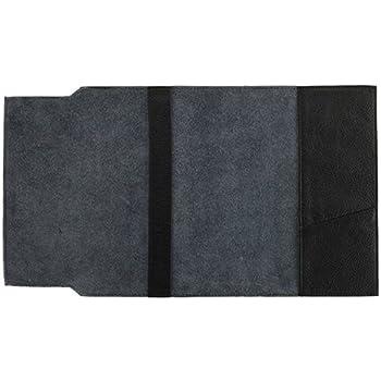ソフトナッパ革(しなやか牛本革)ブックカバー新書サイズ ブラック
