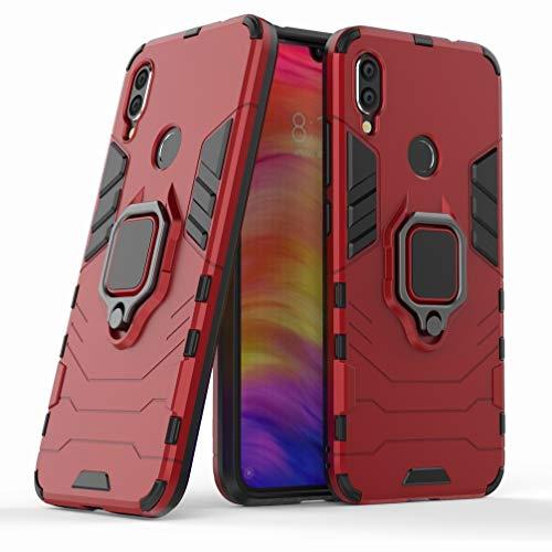 Ougger Funda para Xiaomi Redmi Note 7 Carcasa Multifuncional Tapa Armadura Protector Absorción de Impacto [Soporte de vídeo] Tapa Duro Plástico + Suave TPU Silicona 2in1 Carcasa Redmi Note 7 (