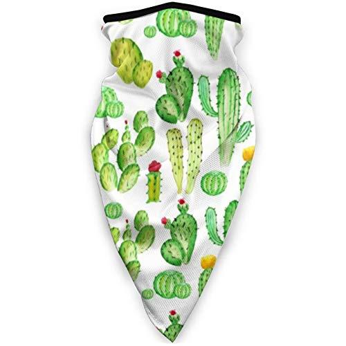 BEHDIJ Pasamontañas Máscara de deportes a prueba de viento, bufanda para mujeres y hombres, al aire libre, cómoda y transpirable, cuello con cinta para la cabeza, bufanda aislada de cactus