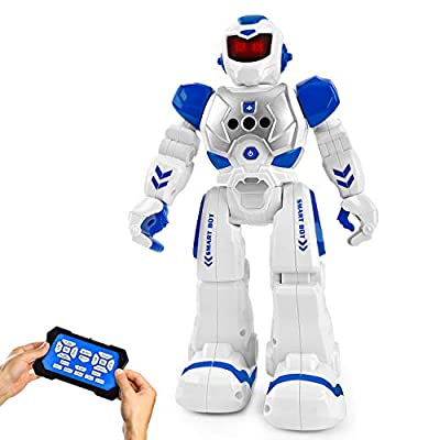 Cradream RC Robot for Boy Smart Robots Toys ,Programmable Remote Control Robot,Boys Girls Birthday Gift (Blue)