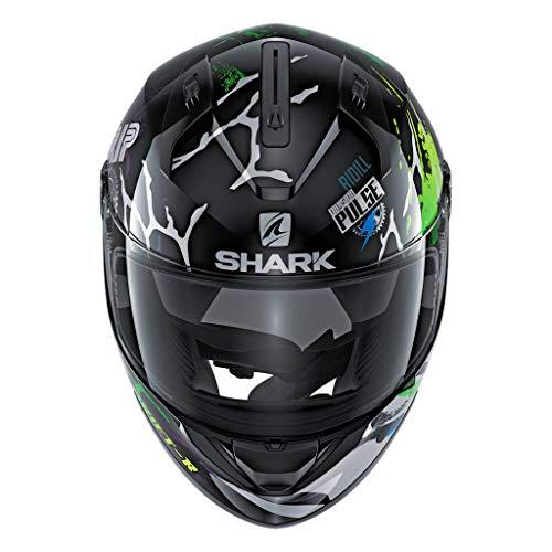 Shark Unisex-Adult Full Face Helmet (Black/Green/Blue, S - 55-56 cm - 21.7-22'')