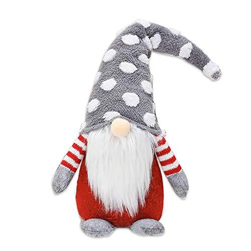 Christmas Santa Gnome Plush Doll - 49 cm Tomte Swedish Gnomes Ornaments - Christmas Gnome Mini Plush Handmade Santa Cloth Doll Figurines Toy for Home Christmas Holiday Party Decoration