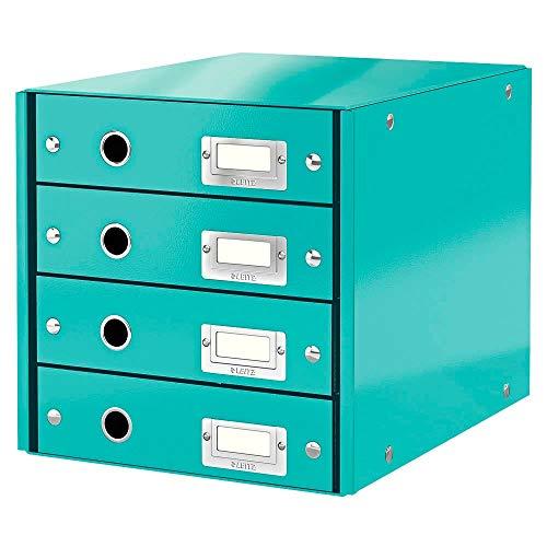Leitz, Schubladenbox, Eisblau, 4 Schubladen, A4, Click & Store, 60490051
