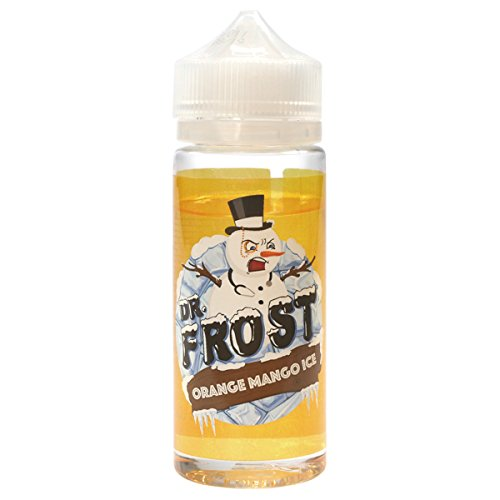 Dr. Frost e-Liquid Orange Mango Ice, Shake-and-Vape für Ihre e-Zigarette, 0.0 mg Nikotin, 100 ml