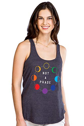 Tipsy Elves Pride Women's Not a Phase Tank Top Size Medium Black