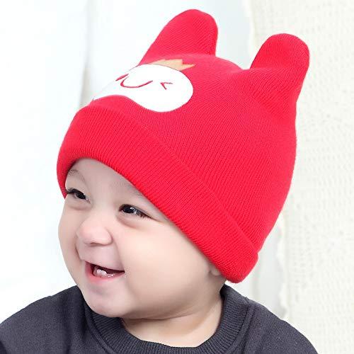 geiqianjiumai Nieuwe schattige kleine prins wol hoed oor beschermer warme gebreide hoofddeksels baby hoed