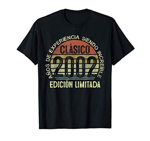 Clásico Nacido En 2002 Regalo Para Hombre 19 Años Cumpleaños Camiseta