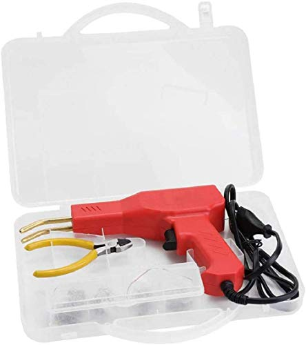 50W Hot Staplers, Professional Car Bumper Crack Repair Welding Machine Set, Handheld PVC Plastic Welding Gun Machine Garage Tools Plier EU Plug Set
