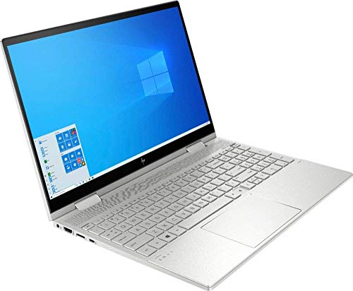 Newest HP Envy X360 2-in-1 15.6' FHD Widescreen LED Touch-Screen Laptop Bundle Woov Accessory | Intel Quad Core i5-1035G1 | 8GB DDR4 RAM | 256GB SSD | Backlit KB| FP| Windows 10 Home (Renewed)