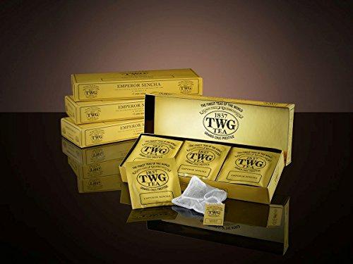 TWG Singapore - The Finest Teas of the World - EMPEROR SENCHA Tee - 15 Handnaht Teebeutel aus reiner Baumwolle