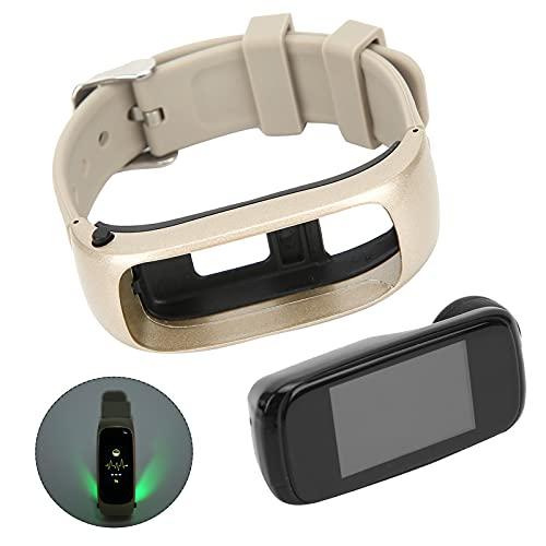 BOLORAMO Reloj Inteligente, 2 en 1 Auricular Inalámbrico Bluetooth Pulsera Reloj Inteligente Monitor Deportivo Pulsera Fitness Salud Reloj de Seguimiento del Sueño para Hombres Mujeres(Dorado)